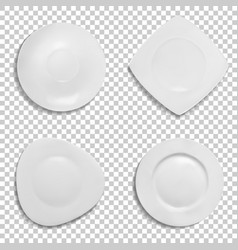 ceramic plates shapes 3d vector image