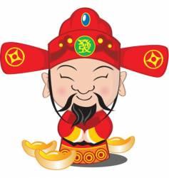 Choy san god of wealth vector image