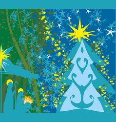 christian christmas nativity scene of baby jesus vector image