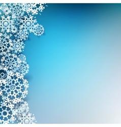Christmas origami snowflake and banner EPS 10 vector image