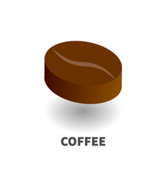 coffee bean icon symbol vector image