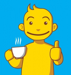 coffee lover vector image vector image