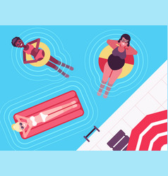 Colourful summer rest and swim in vector