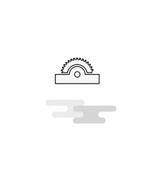 cutter web icon flat line filled gray icon vector image