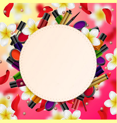 Decorative cosmetics beauty store vector