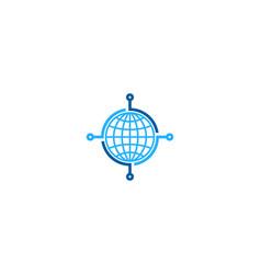 digital globe logo icon design vector image