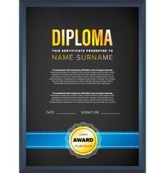 Diploma certificate design template vector image