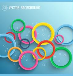 Dynamic light circles background vector