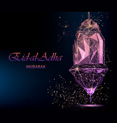 Eid al-adha bright greeting card vector