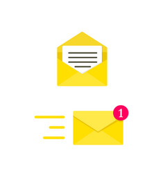 Email envelope concept digital mail yellow vector