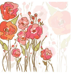 Eps10 background with vibrant poppies vector