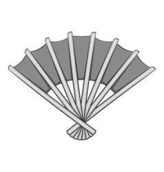 Fan icon gray monochrome style vector