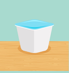 farm yoghurt on the table vector image