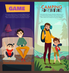 fatherhood vertical banners vector image