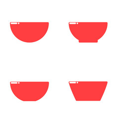 flat style design red bowls vector image