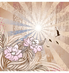 Floral rays vector