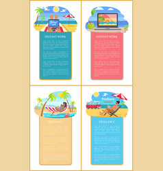 freelance summer commercials with people on beach vector image
