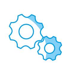 gears wheels icon vector image