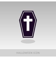 Halloween Coffin icon vector