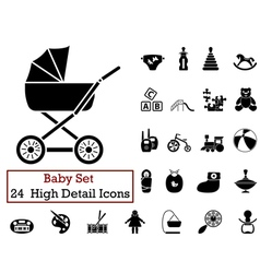 icon set Baby vector image
