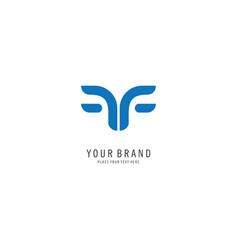 letter f symbol logo vector image