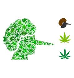 Lier collage of marijuana vector