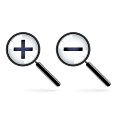 magnifying icons vector image