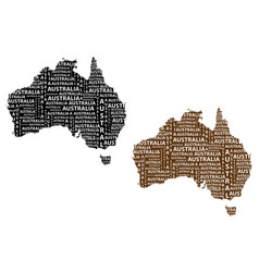 map of continent australia vector image