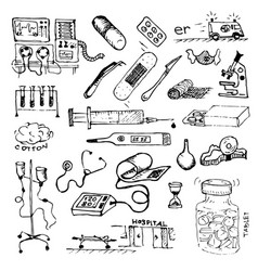 medicine or hospital treatment patients or vector image