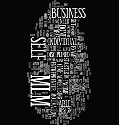 mlm text background word cloud concept vector image