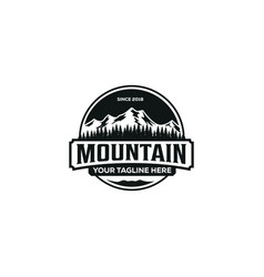 mountain outdoor adventure graphic for t shirt vector image