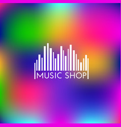 Music shop logo vector