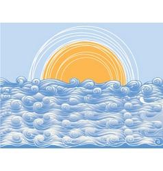 Ocean background vector