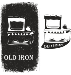 Old iron vector