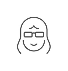 old woman line outline icon vector image