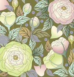 pattern roses1 vector image