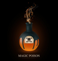 realistic poison composition vector image
