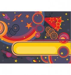 Retro cosmos background vector