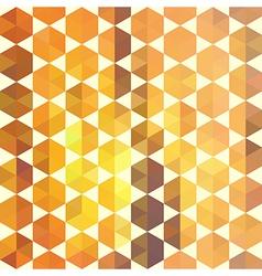 Retro orange pattern of geometric shapes vector