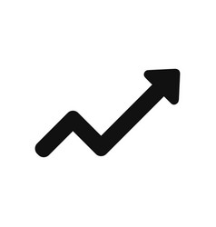 rising arrow icon in modern design style for web vector image