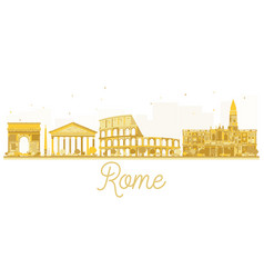 rome city skyline golden silhouette vector image