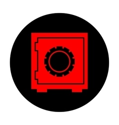Safe icon Red icon vector image