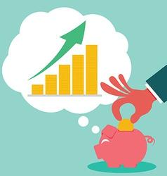 Saving for money grow vector