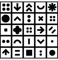 Seamless pattern geometric shapes vector