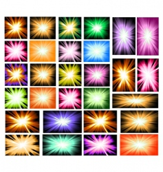 Set of ray lights explosion vector