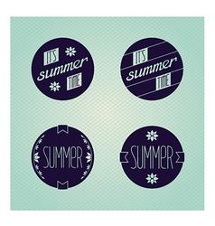 Set of round emblems designed for summer vector
