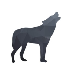 Silhouette of a wolf vector