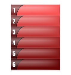 Six Options Vertical Red Template vector