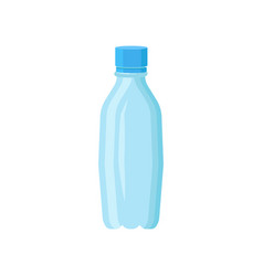 Small plastic bottle for drinking water blue vector