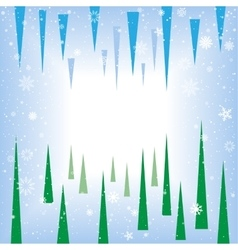 Spruce icicle abstract background vector